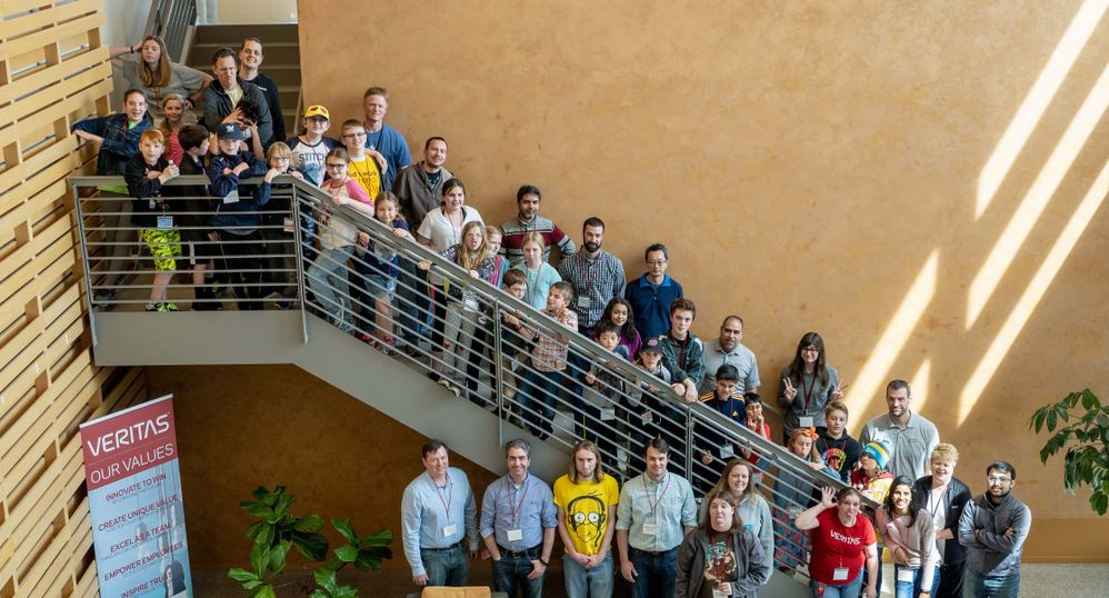 Roseville's TYKTWD attendees pose for a team photo following a day of fun engineering-focused activities.