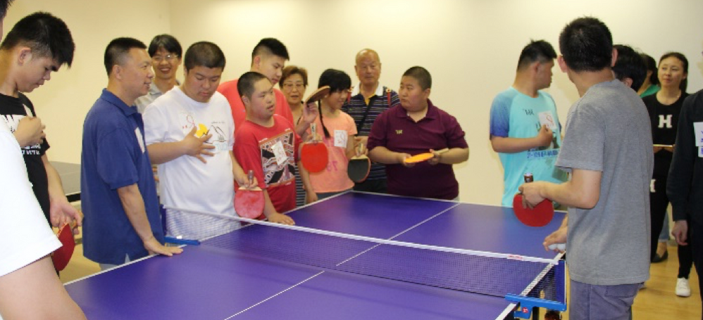 The game, ping pong, played by Veritas staff and the children of RARL was one of the children's favorite activities of the day.