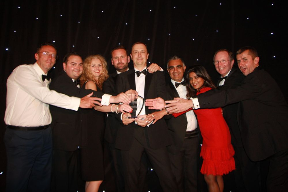 Veritas UK Team collects the Storage Magazine Award
