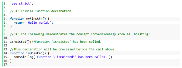 Let's talk JavaScript functions: Part one for the VOX DC