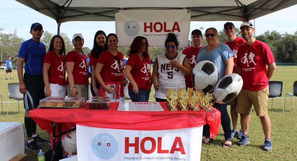 A highlight from last year's HOLA Soccer Tournament out of Veritas' Heathrow office.