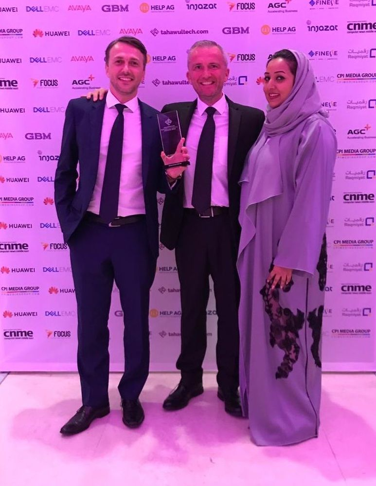 From left to right Damian Wilk, Geoff Greenlaw and Areej Sharik