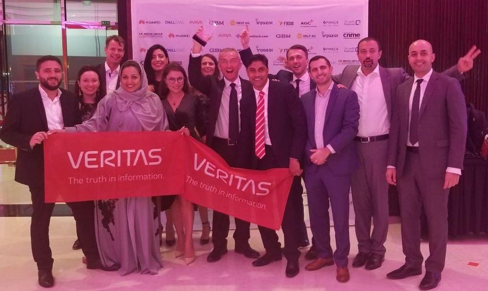 #TeamVTAS celebrating Veritas' Software Vendor of the Year Award