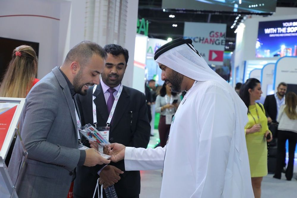 Meeting, greeting and networking on Veritas' stand at GITEX.