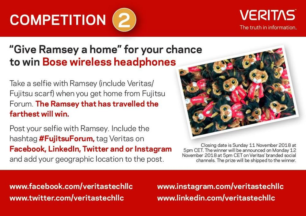 How far can Ramsey travel around the world? Give Ramsey a home, take a selfie and tell us where he is now living to be in with a chance to win a pair of Bose Wireless Headphones.