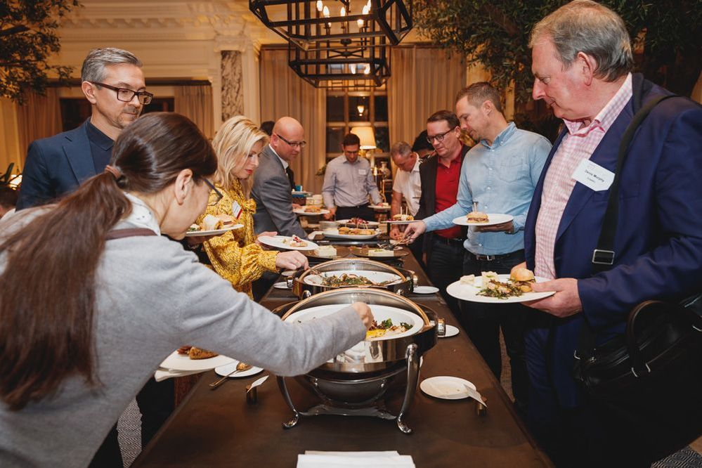 Fabulous lunch with plenty of opportunities to connect with peers and meet new people.