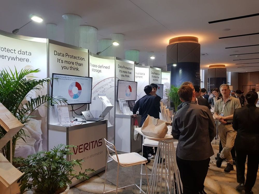 The busy product and solution area were manned by Veritas staff as well as partners, who supported and sponsored this Vision event.
