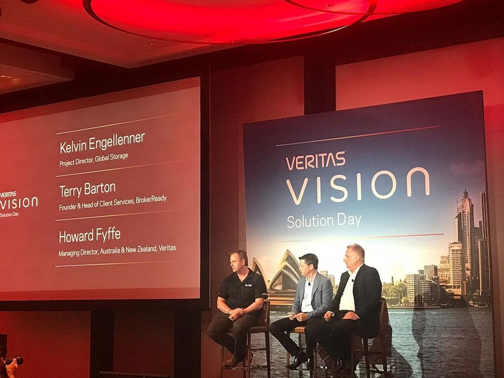 The second panel session of the day saw two of Veritas' customers share their experiences. We would like to thank all the speakers, organisers of the event, customer, partners and sponsors who all contributed to make this an amazing event. See you at the new Vision event!