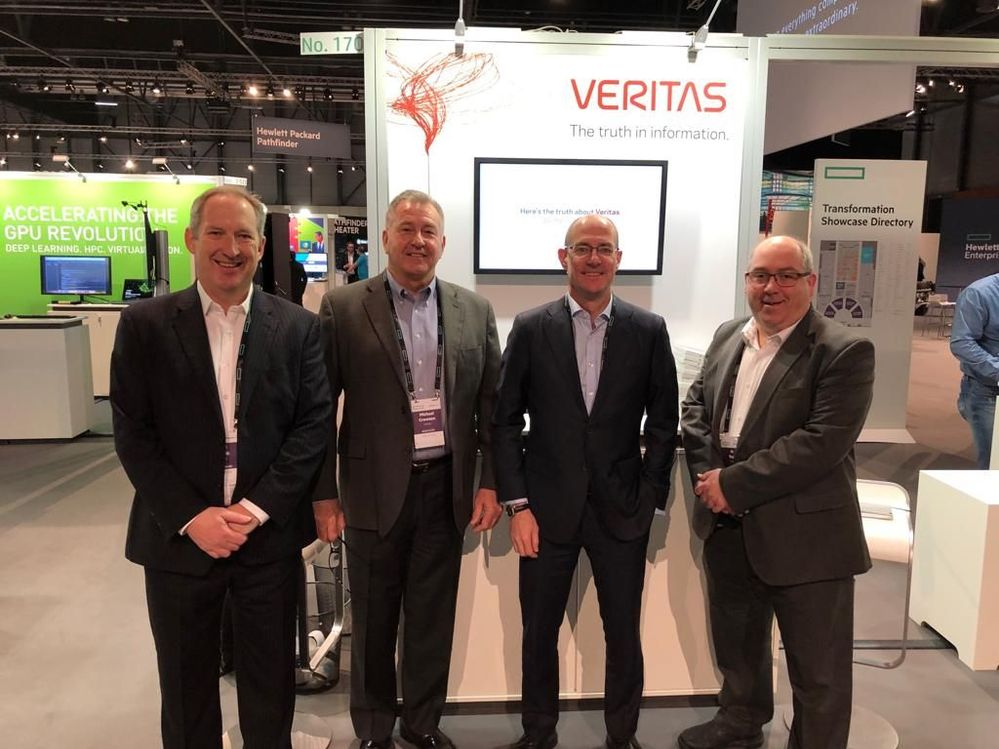 Meet #TeamVtas on Veritas' stand at HPE Discover 2018, Madrid.