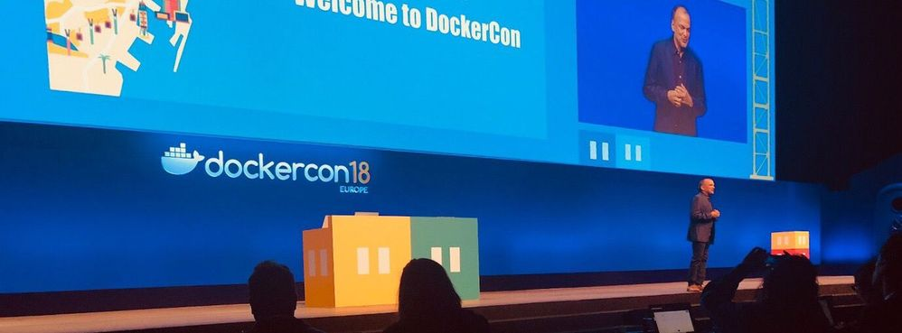 Steve Singh, President and CEO of Docker, shares the Docker mission on stage at Dockercon EU 2018.