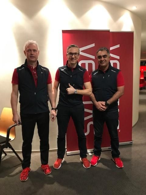 #TeamVtas is ready to kick off Vision Solution Day (VSD) Stockholm. Check out those on brand red sports shoes. Very nice!