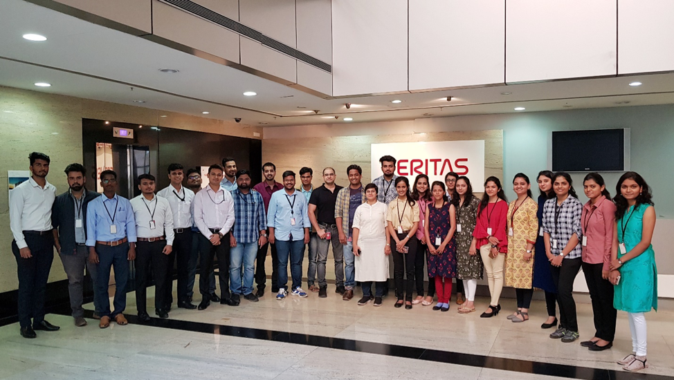 #TeamVtas out of Pune, India, alongside the office's new Veritas University intern class.