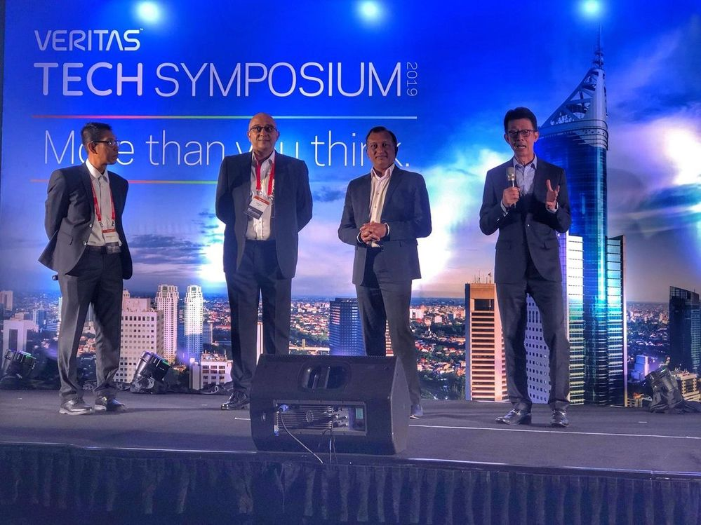 Meet the APJ leadership team. Chris Lin (far right) shares his thoughts on the event and thanks Veritas' customers and partners for their continued business.