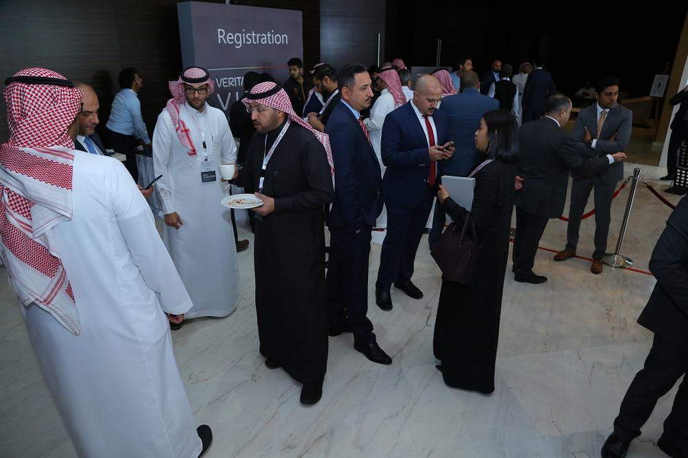 Welcome breakfast and networking before Vision Solution Day (VSD) Riyadh, Saudi Arabia kicks off.