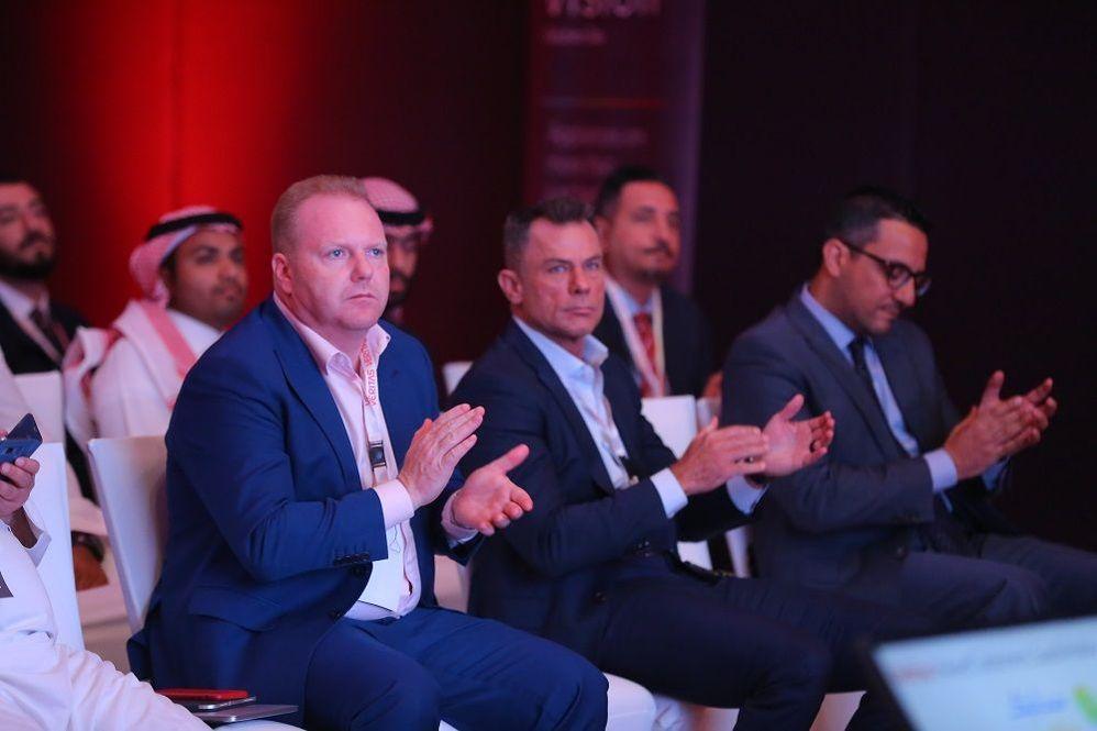 #TeamVtas from left to right; Brett Samuel, Arthur Dell and Johnny Karam waiting to present at VSD Riyadh.