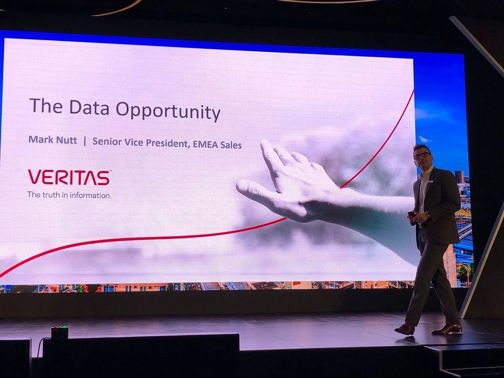 """Mark Nutt, SVP EMEA keynoted at VSD Johannesburg and advised attendees """"use data to disrupt others, don't let it disrupt you."""" Great advice from Mark!"""