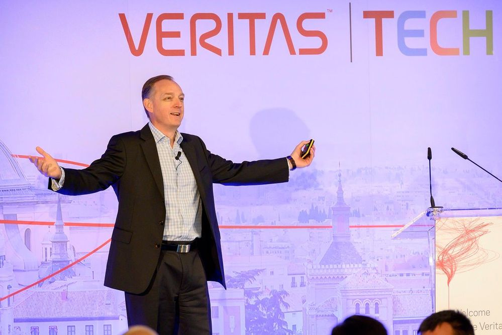 Peter Grimmond opens the Veritas Technical Forum in Madrid, Spain.