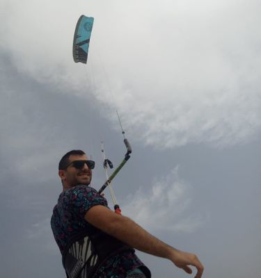 When Kareem is not working, you'll find him kite surfing. Amazing!