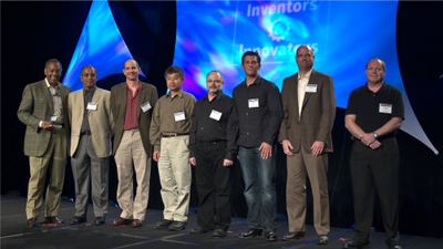 Taken during the 2008 Innovation Awards with then CEO, John Thompson and other inventors.