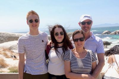 Eric (far right) holidaying with his family