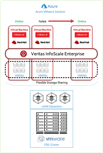 Figure 3. Using Flexible Storage Sharing for high availability within AVS